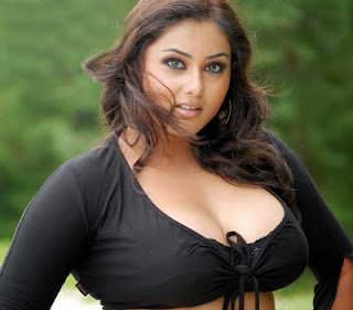Namitha showing her cleavage