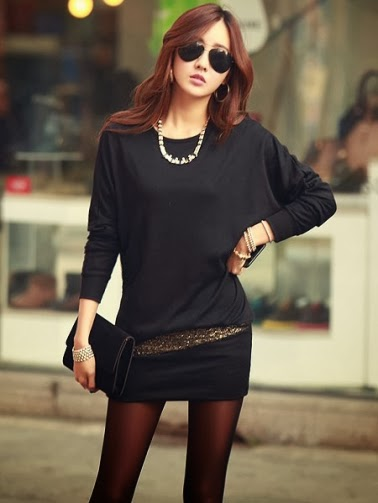 New Arrival Long Sleeve Solid Color Slim Hip Package Dress