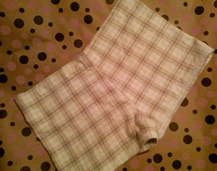 Flannel lace PJ shorts - Lina and Vi