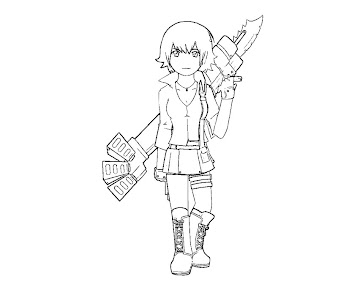 #6 Lady DMC Coloring Page