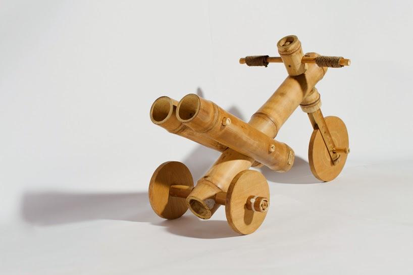 Tricycle en bambou, Jouets Durables