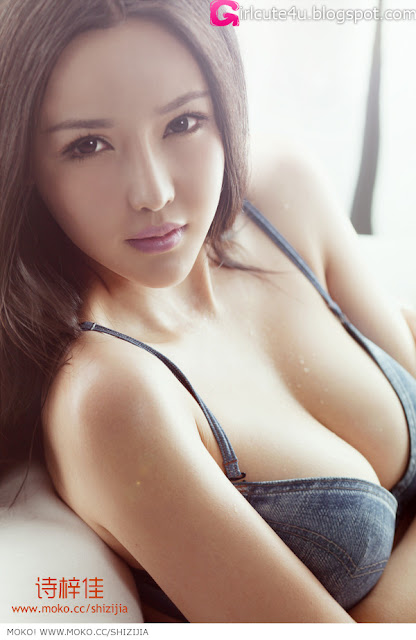 Shi-Zi-Jia-Denim-Lingerie-04-very cute asian girl-girlcute4u.blogspot.com