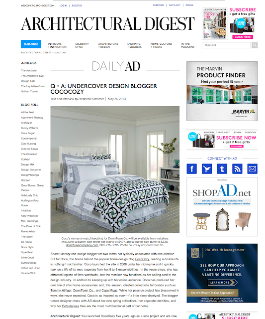 architectural digest website Nbaynadamas article feature story press