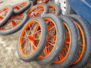 Roda gerobak sampah