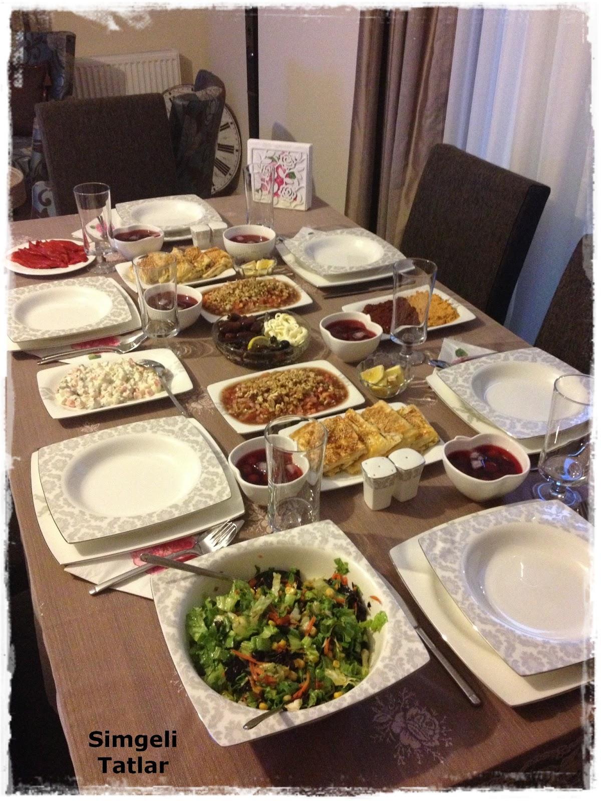 iftar sofrası menüsü