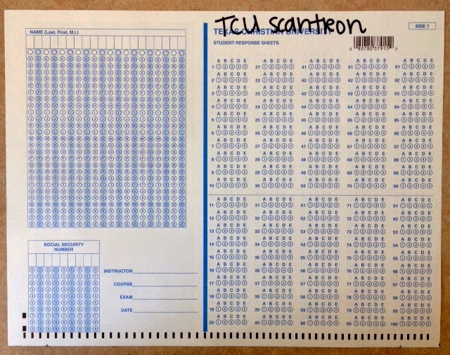 scantron with essay