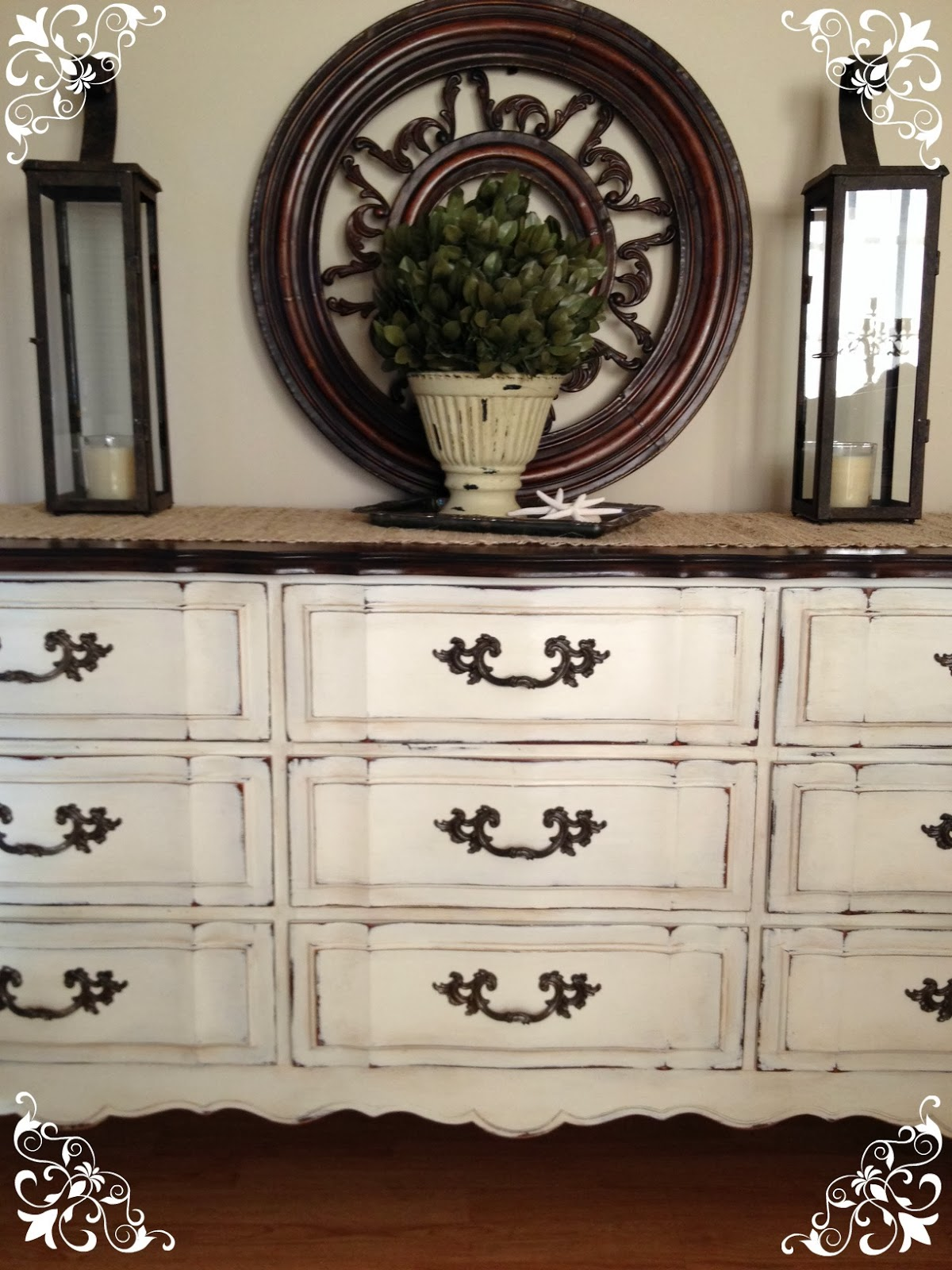 Vintage Country Style Get Inspired Before Amp After Dresser Using Annie Sloan Chalk Paint
