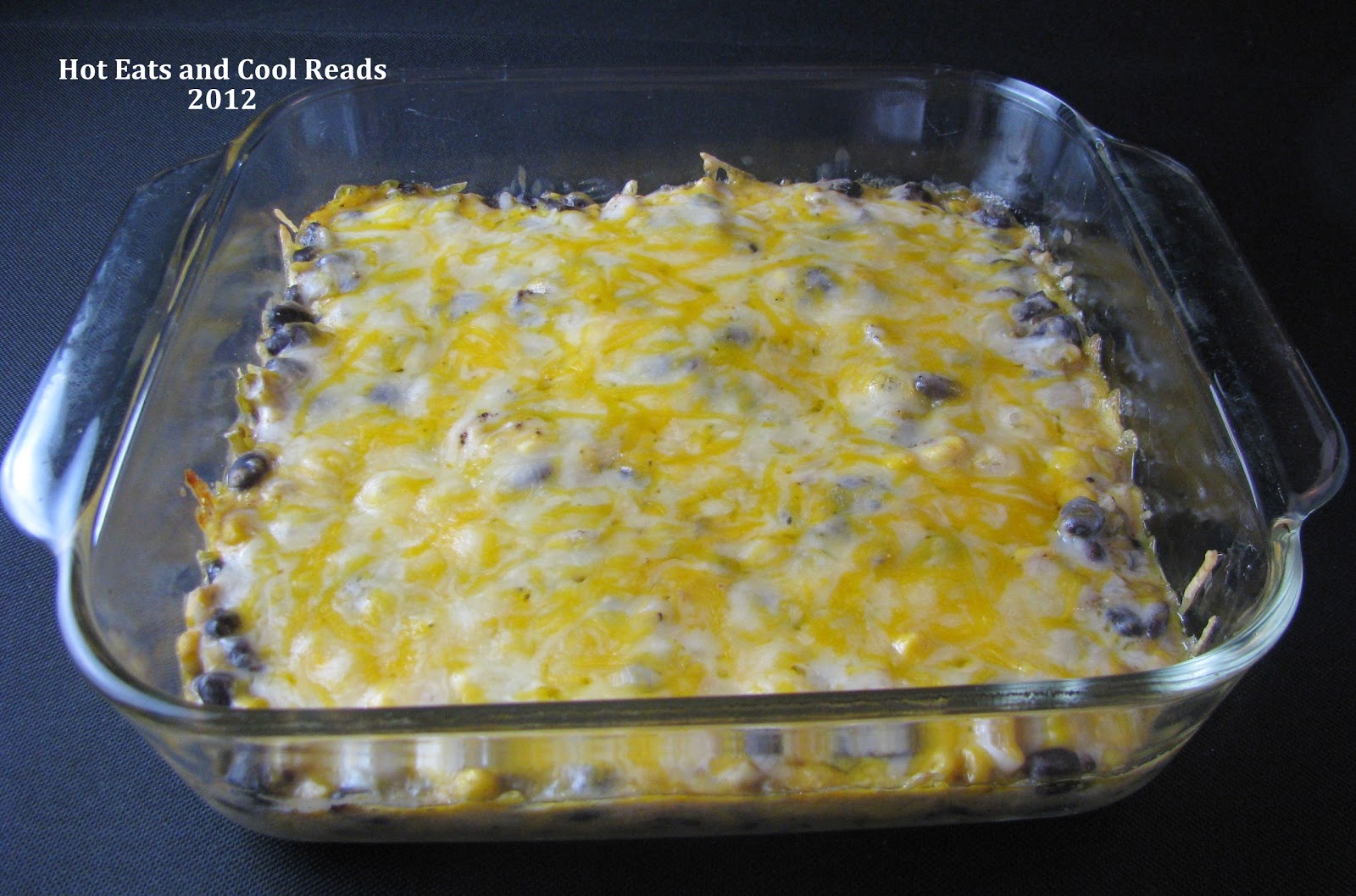 Hot Eats and Cool Reads: Cheesy Corn and Black Bean Dip Recipe
