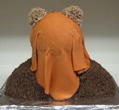 Star Wars 3D Wicket the Ewok Cake - Back View