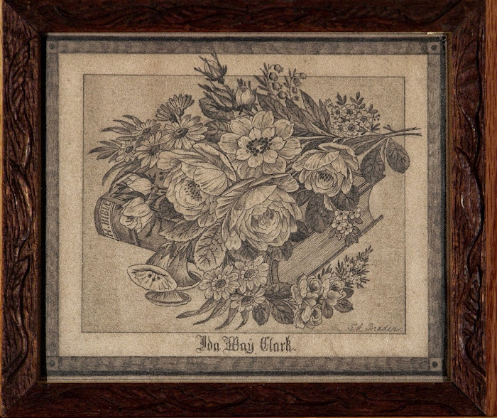 Ida May Clark Floral Wreath and Bible