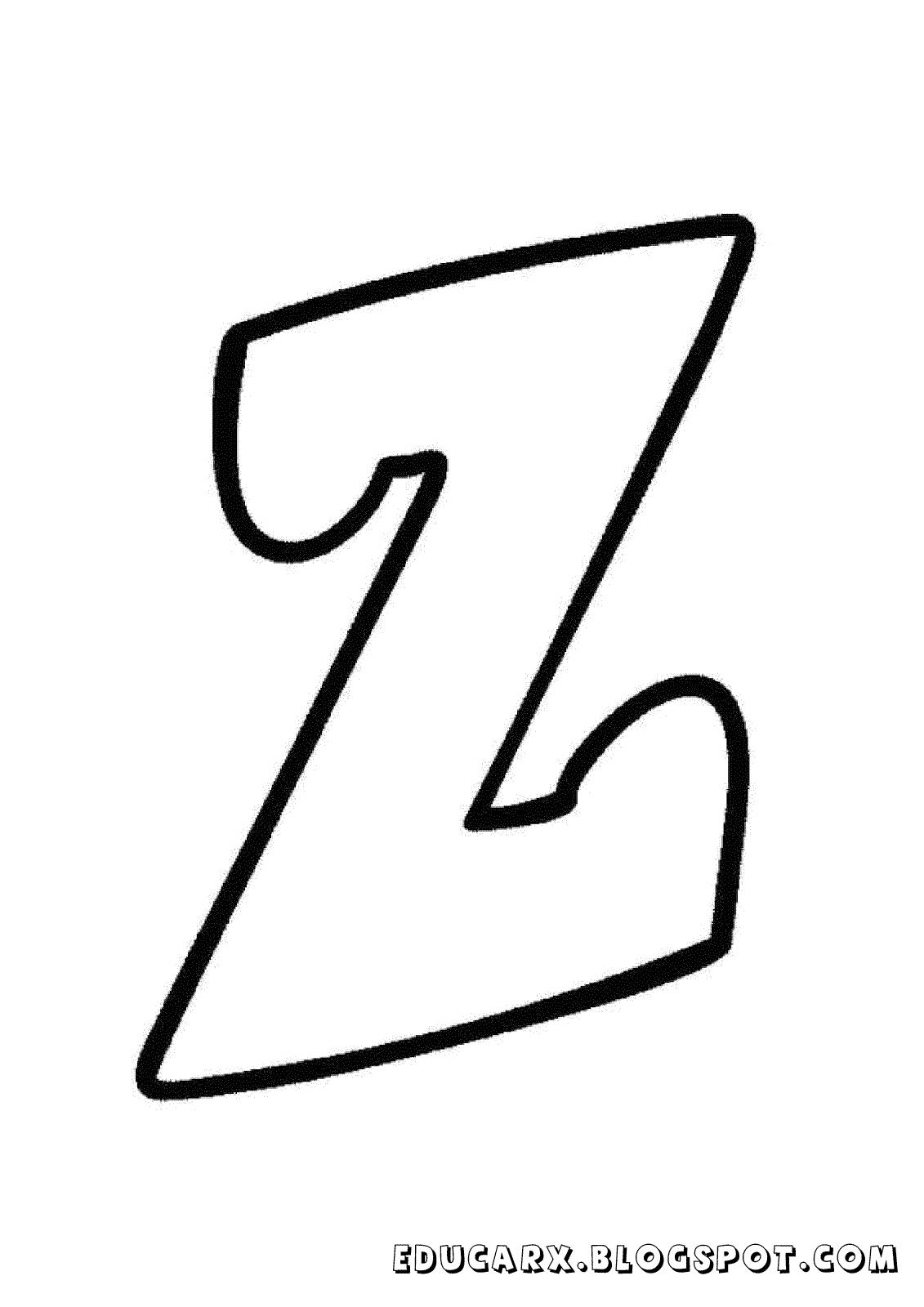 Molde da letra minuscula z