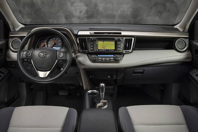 Interior view of 2013 Toyota RAV4