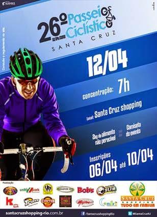 Santa Cruz Shopping promove o 26º passeio ciclístico na Zona Oeste