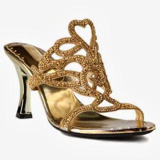 Sandal Pesta Nadine Heel Gold by Paulista