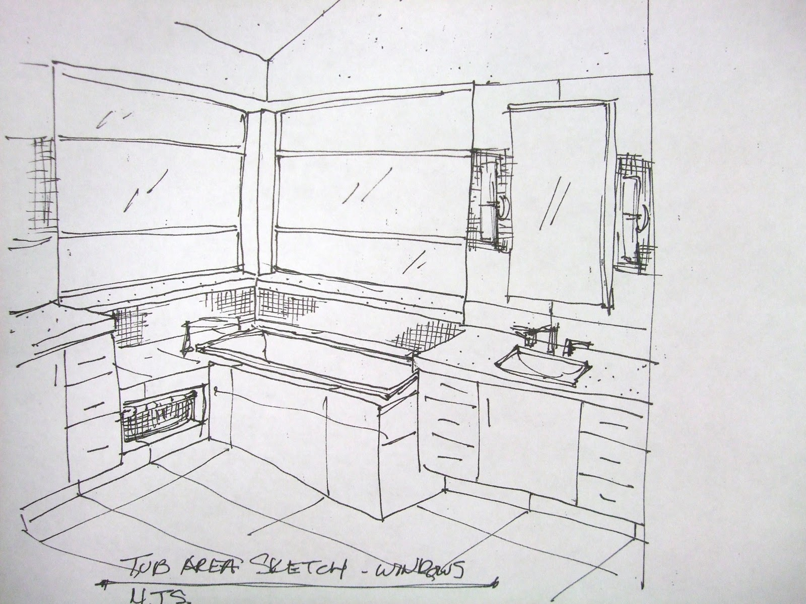 Design Plan For Modern Bathroom