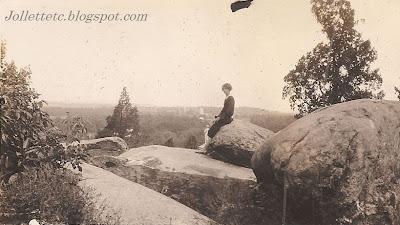 Edith Davis at Devil's Den, Gettysburg