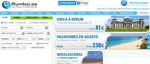 rumboes agencia de vuelos hoteles viajes baratos
