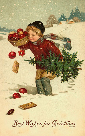 Vintage Christmas cards and postcards