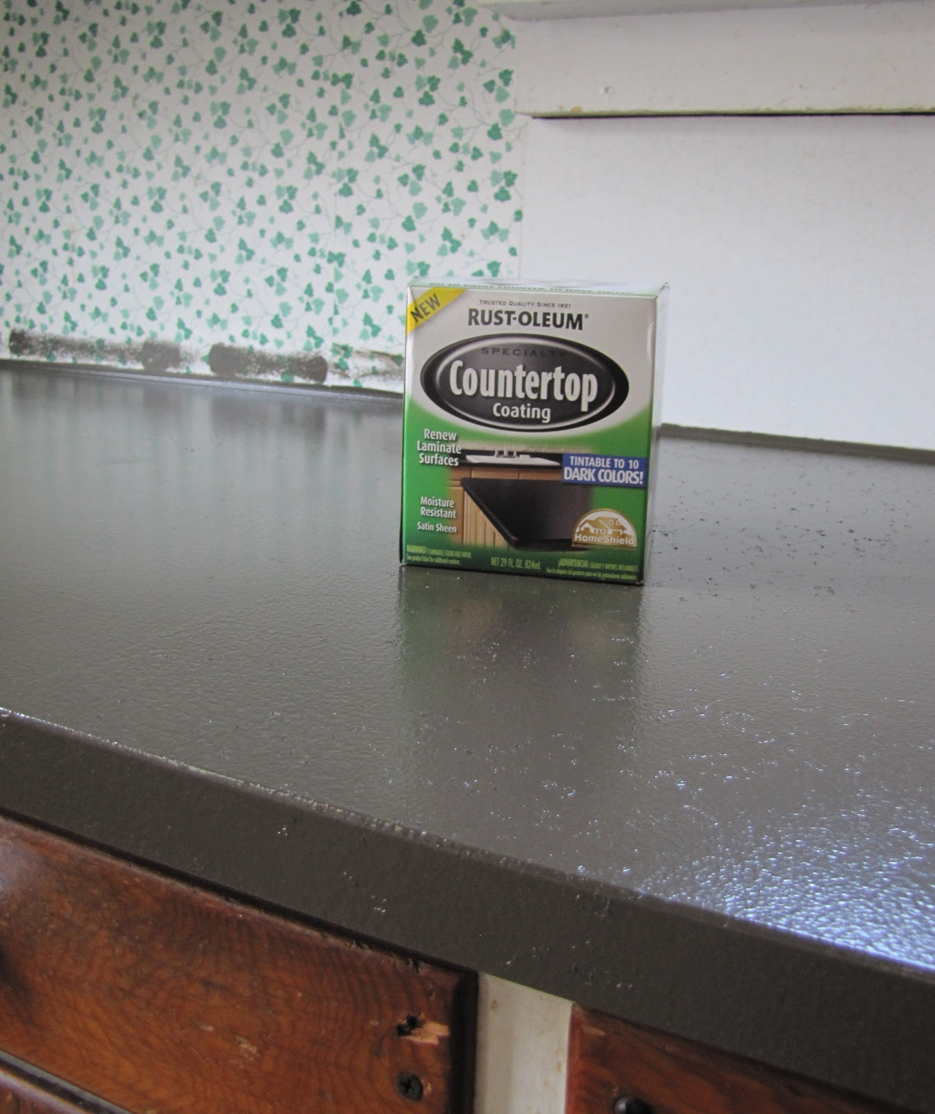 Countertop Coating : Rust-Oleums Countertop Coating- purchased for just over $20 bucks ...