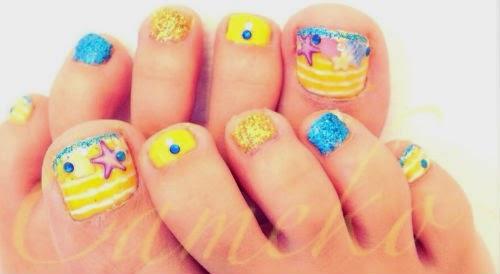 Diseños de uñas para playa