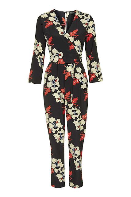 topshop floral jumpsuit, black flower jumpsuit,