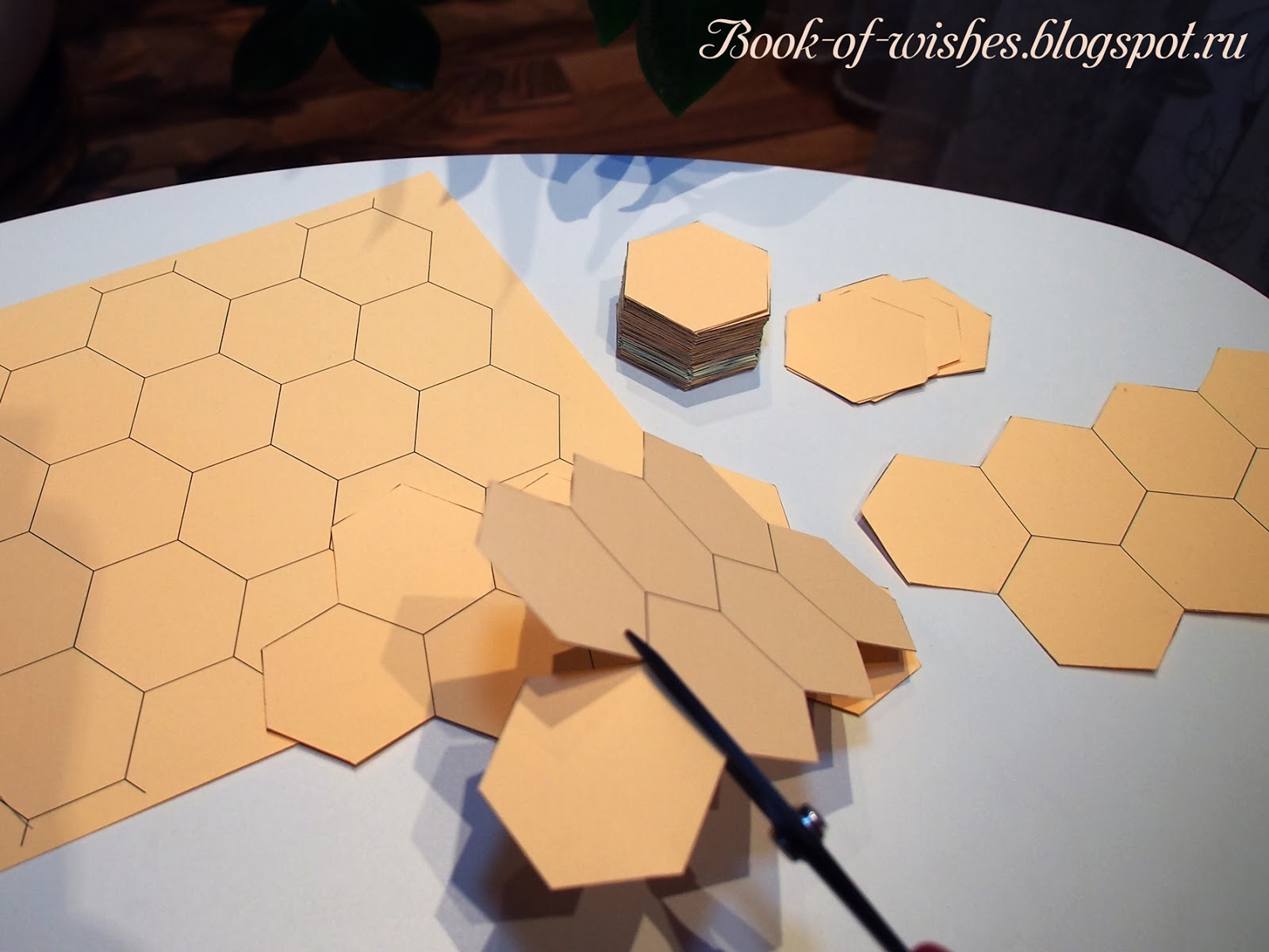 patchwork hexagons patterns