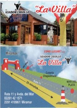 """ASADOR -RESTAURANT """"LA VILLA"""""""
