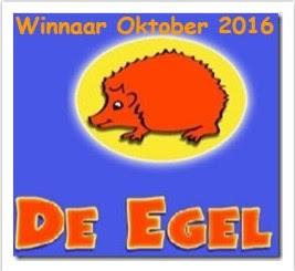 1ste prijs bij de Egel Oktober
