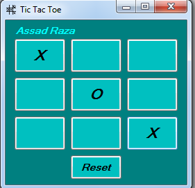 You can make easily a  tic tac toe game c#
