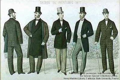 Pues bien, pasemos entonces a describir las prendas y tendencias que se usaban en la moda de la época.