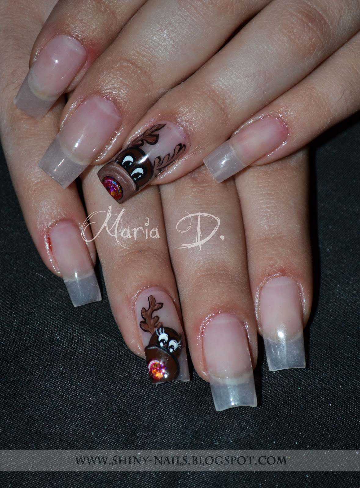 Shiny-Nails by Maria D.: Rudolf on Gel Construction