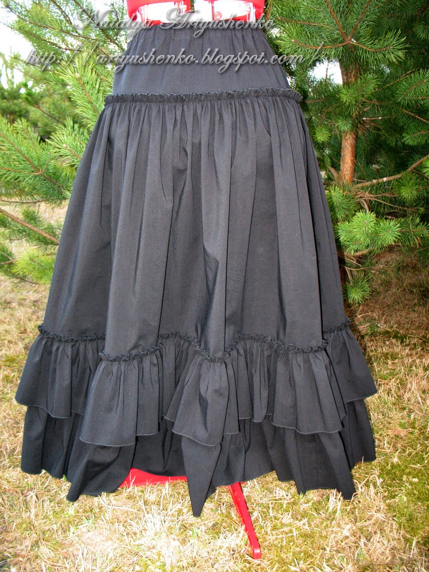 Как сшить многоярусную юбку в пол фото 255