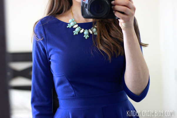 indigo fit & flare dress from Stitch Fix
