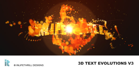 VideoHive 3D-TextEvolutions V3 - Fire