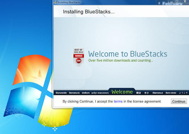 BlueStacks on Win 7 installation