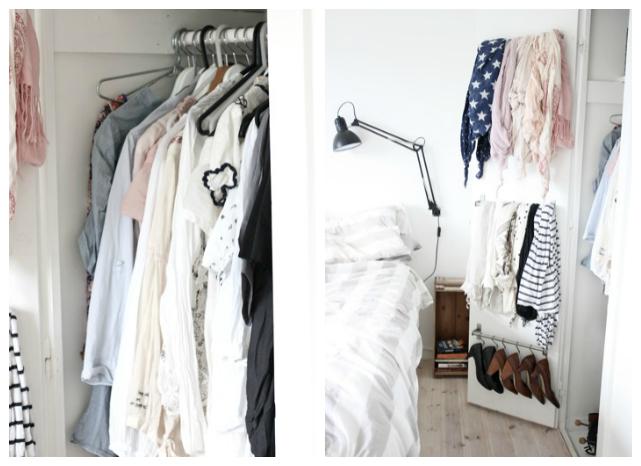 ordenar ropa en el vestidor