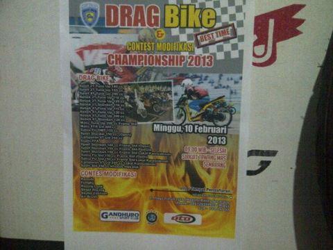 Drag Bike Semarang 9 - 10 Februari 2013