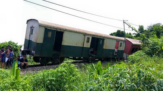 keretapi  sabah tergelincir