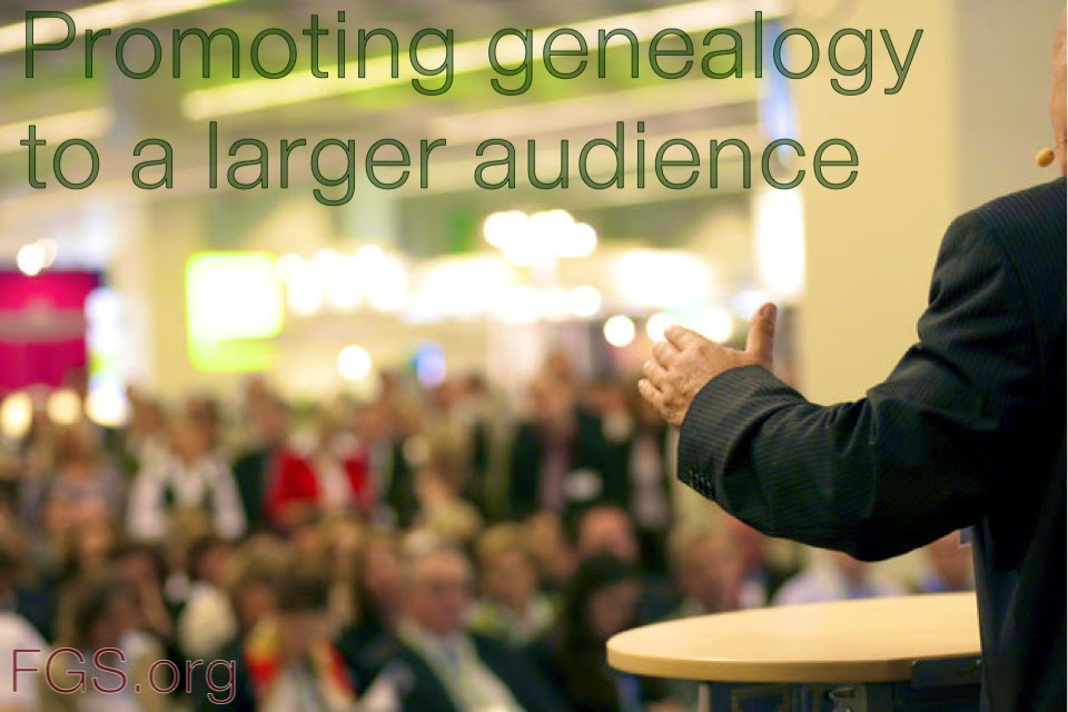 Promoting Genealogy to a Larger Audience via FGS.org #genealogy #FamilyHistoryMonth #familyhistory #gensocs