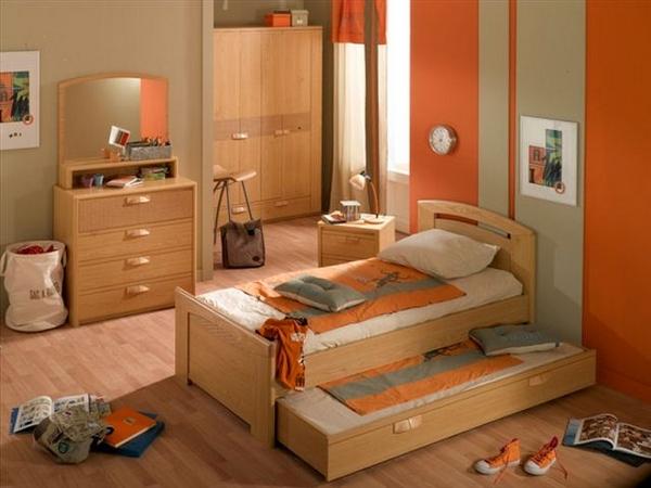 Dormitorios para ni os color naranja dormitorios con estilo - Dormitorio de nino ...