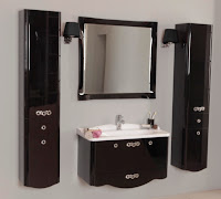 Новая коллекция мебели для ванной комнаты Акватон Венеция - черная