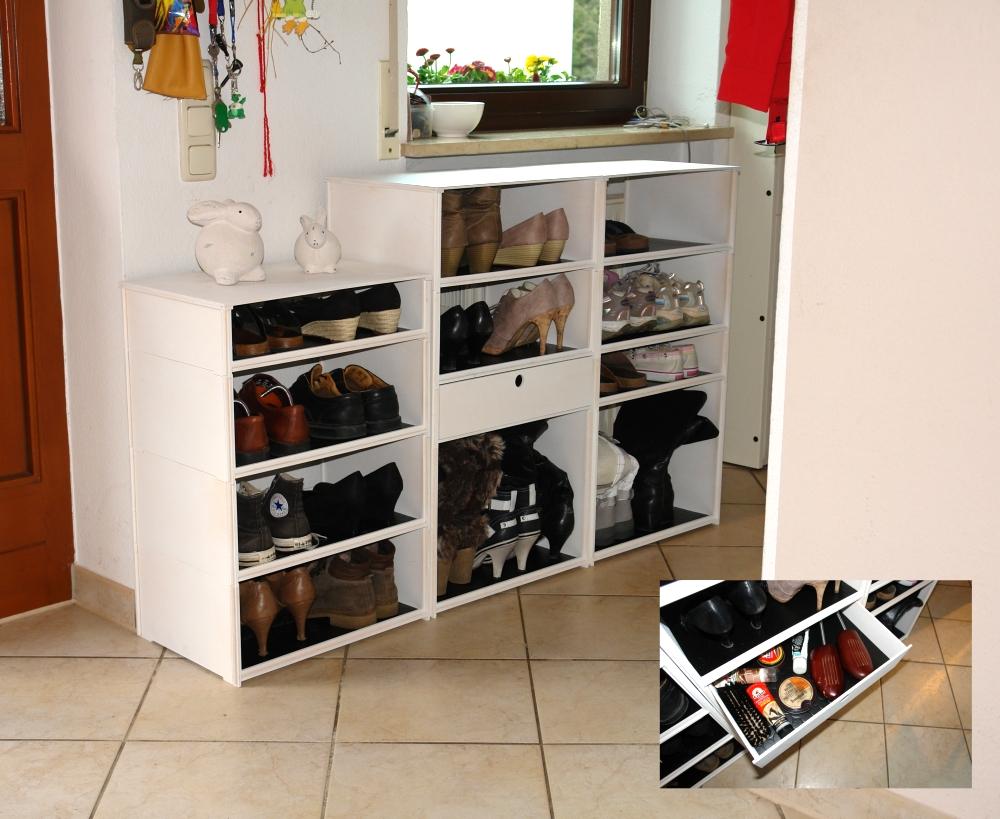 schuhregale von robby. Black Bedroom Furniture Sets. Home Design Ideas
