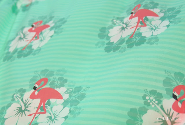 Flamingo Breeze - selbst designter Stoff - Tropical Feeling