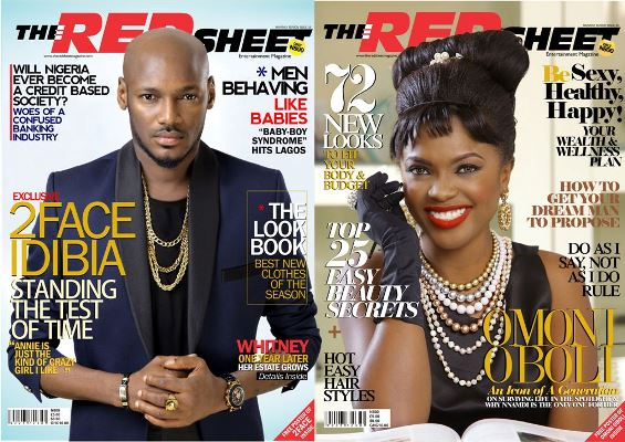 Red Sheet Magazine: Tuface Idibia & Omoni Oboli Cover