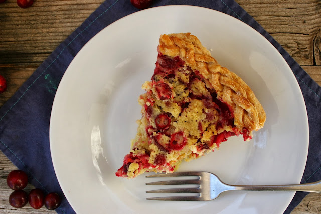Hoosier Mama's Cranberry Chess Pie