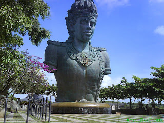 Statue of Lord Vishnu at Garuda Wisnu Kencana Park in Bali