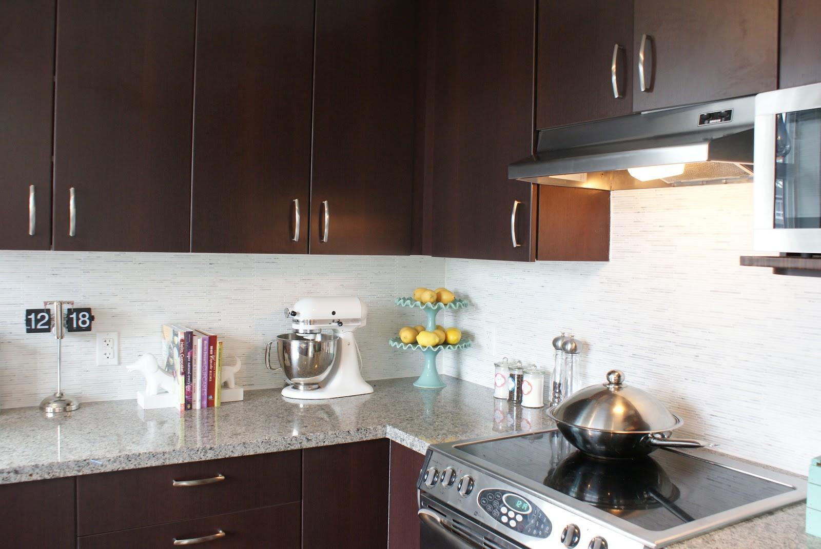 our carrara marble backsplash and kitchen tour. Black Bedroom Furniture Sets. Home Design Ideas