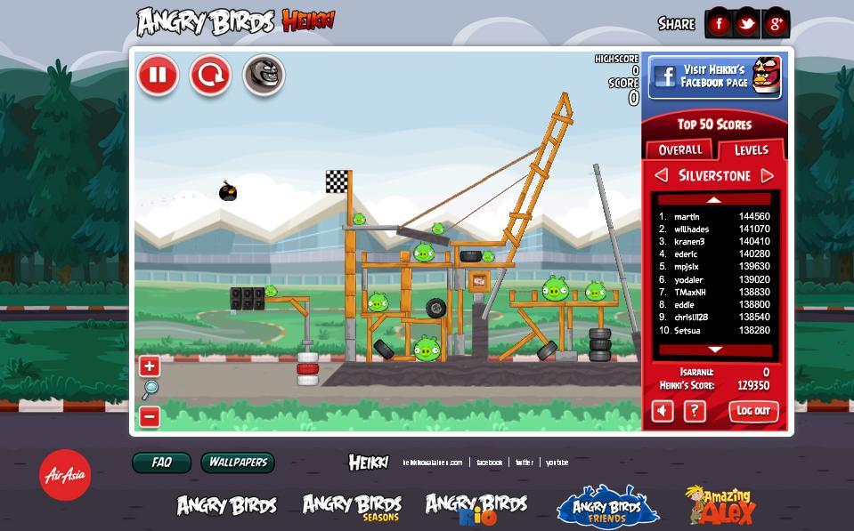 Играем Angry Birds Heikki - Britain - YouTube