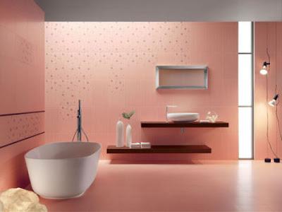 baño rosado
