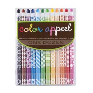 Peelable Crayons - gift ideas for kids who love to doodle, write, and draw from And Next Comes L